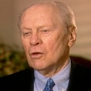 Gerald Ford, in an interview recorded in September 2003, describes Max Fisher's as an American patriot with a deep love of Israel.