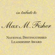 The National Distinguished Leadership Award was presented to Max M. Fisher by the American Jewish Committee in 1994.