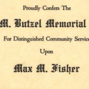 The 1964 Fred M. Butzel Award was given to Max M. Fisher.