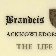 Max Fisher's lifetime membership to Brandeis University Clubs.