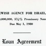 Jewish Agency for Israel's $50,000,000 loan agreement secured by Max Fisher and other Jewish American leaders in 1965.