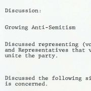 Notes from Max Fisher on 1981 meeting with President Reagan and Jewish American leaders about growing Anti-Semitism.