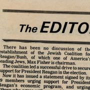 Article from The Jewish Post and Opinion about Max M. Fisher's support of President Reagan's economic policy.