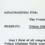 Letter from Max M. Fisher to President Nixon concerning Israeli Prime Minister Golda Meir's 1969 visit.