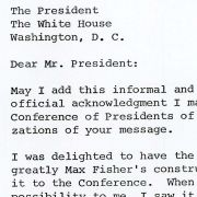 Letter from Dr. William A. Wexler to President Nixon