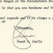 1980 letter to Max M. Fisher from Frank D. Stella.