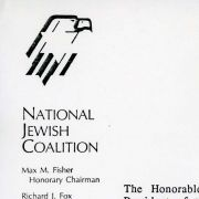 Letter to President George H.W. Bush from the Chairmen of the National Jewish Coalition.
