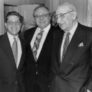Max Fisher and Robert Slatkin and Robert Naftaly at the 1995 Fisher Meeting.