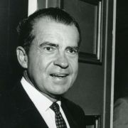 Max M. Fisher with President Richard Nixon, shortly after Nixon won the 1968 election.
