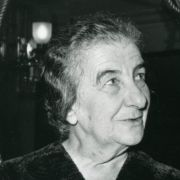 Max M. Fisher with Israeli Prime Minister Golda Meir