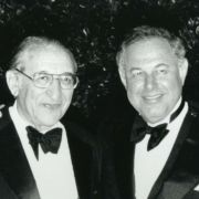 Max M. Fisher with A. Alfred Taubman in the early 1980s