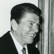 Max M. Fisher with President Ronald Reagan in the White House.
