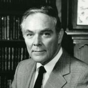 A portrait of Alexander Haig, President Reagan's Secretary of State.