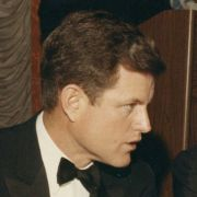 Max Fisher and Edward Kennedy at the American Jewish Committee dinner in Detroit in 1967.