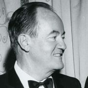 Max M. Fisher with Vice President Hubert Humphrey.