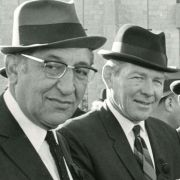 Max Fisher with others at the funeral of Israeli Prime Minister Levi Eshkol.