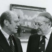 Max M. Fisher and President Gerald Ford at the White House