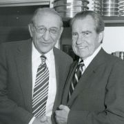 Max M. Fisher with President Richard Nixon at the Palm Beach Round Table in Palm Beach, Florida.