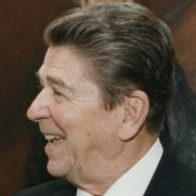 Max M. Fisher and President Ronald Reagan in the White House.
