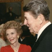 Marjorie Fisher with President Ronald Reagan and the First Lady at the White House.