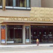 The street front of the Max M. Fisher Music Center.