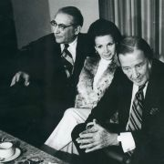 Max and Marjorie Fisher with Henry Ford II and his wife, Christina, during a trip to Israel in 1972.