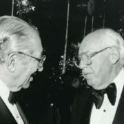 Max M. Fisher and Ronald Reagan's campaign manager William Casey, 1980.