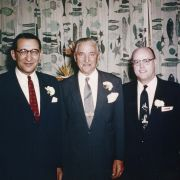 Fisher with Henry E. Wenger and William E. Slaughter, Jr. in the mid-1950s.
