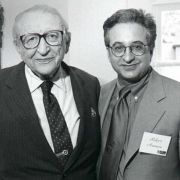 Max Fisher with Bob Aronson, the former CEO of the Jewish Federation of Metropolitan Detroit, in 1999.