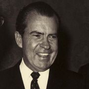 Max Fisher and Richard Nixon in the White House.