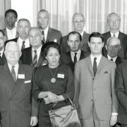 The original New Detroit committee. Max Fisher is in the second row, far left.