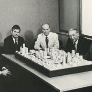 Left to Right: Alan E. Schwartz, Joseph L. Hudson, Robert E. McCabe, Max M. Fisher, A. Alfred Taubman