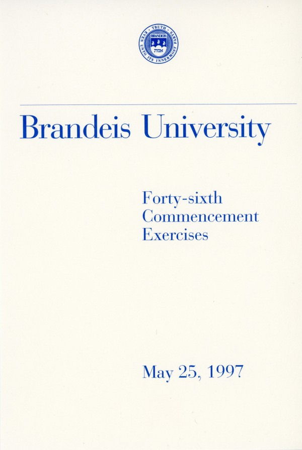 Max Fisher was awarded an honorary doctorate at the Brandeis University Commencement in 1997.