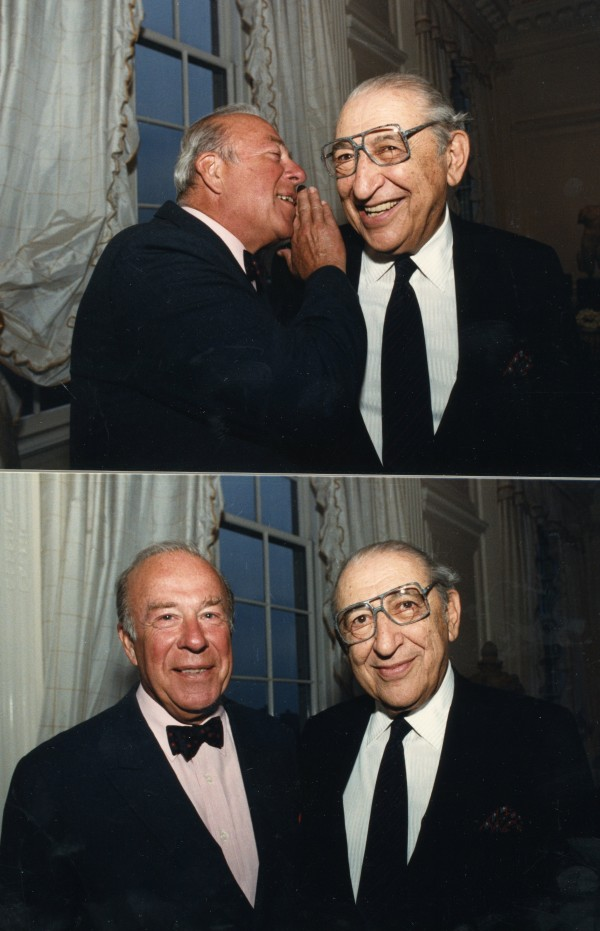 Secretary of State George Shultz and Max M. Fisher in 1988.