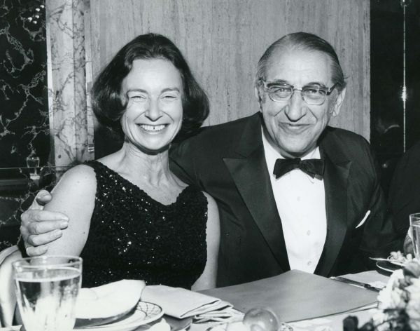 Max M. Fisher with Jacqueline Levine at the Stephen S. Wise Awards Dinner.