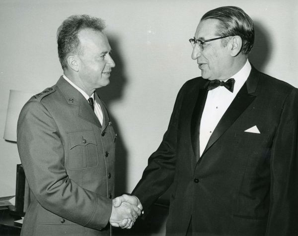 Max Fisher with Yitzhak Rabin in 1967.