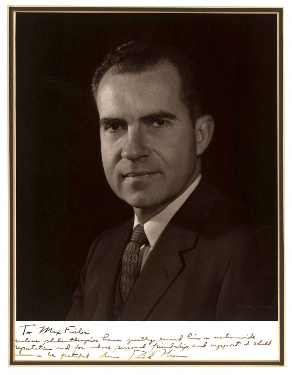Personal signed portrait of Richard Nixon.