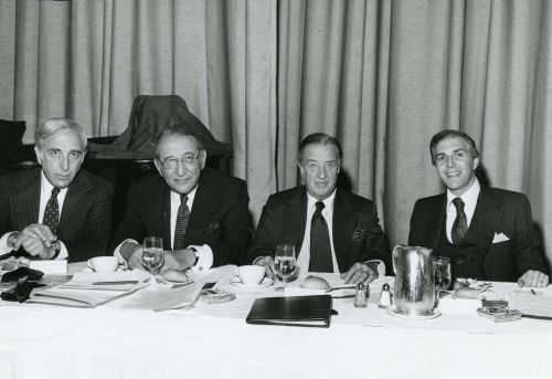 Max M. Fisher with Henry Ford II at the United Jewish Appeal Dinner in New York