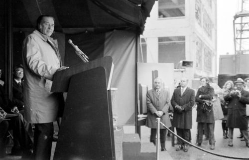 Henry Ford II at the Detroit Renaissance Groundbreaking