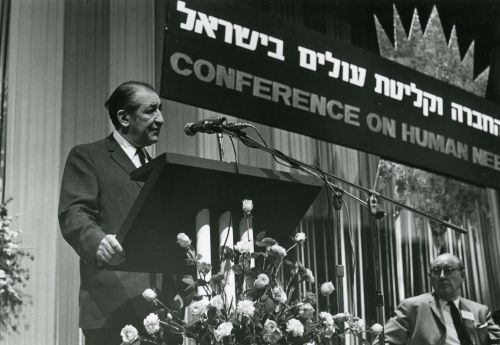 Max Fisher speaks at the 1969 Conference on Human Needs