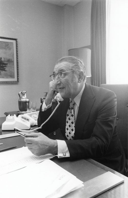 Max Fisher works the phone
